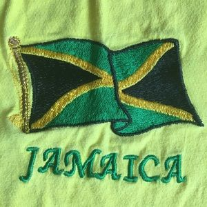 Vtg Jamaica T shirt Embroidered xxl